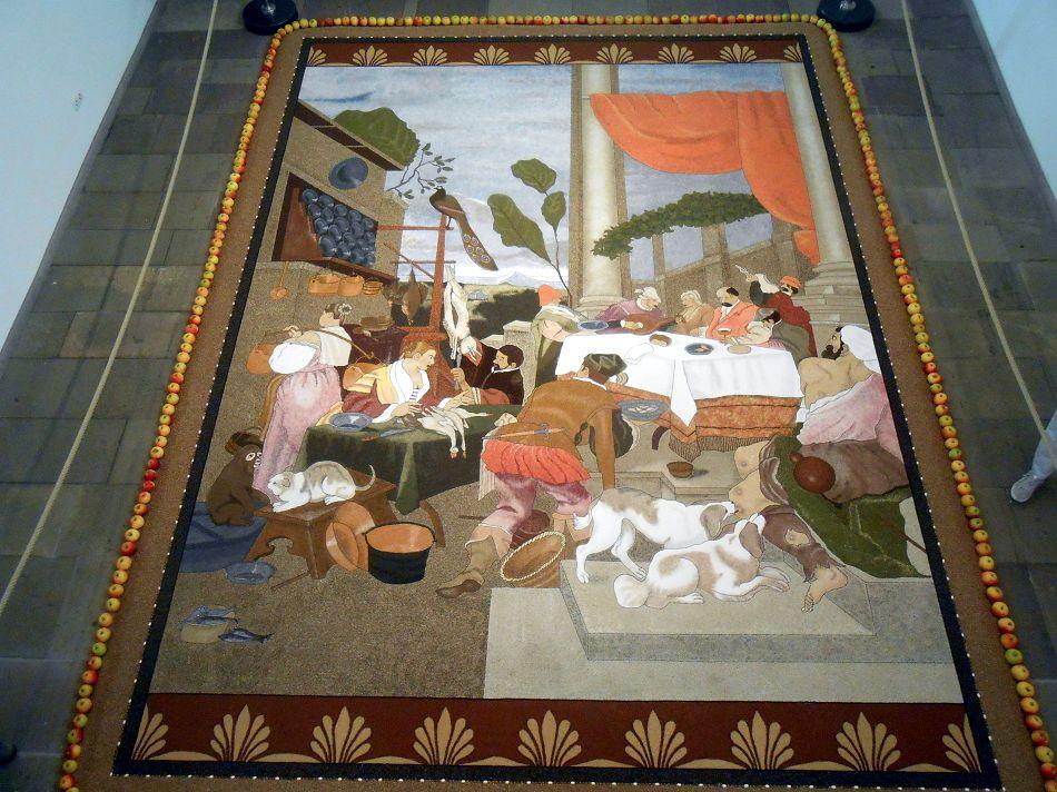 Früchteteppich in der alten Kirche in Sargenzell
